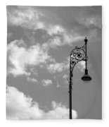 Lampost And Clouds In Wroclaw Poland Fleece Blanket
