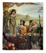 Lancelot And Guinevere Fleece Blanket