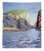 Land And Sea No I - Ramsey Island Fleece Blanket