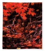 Land Of The Maple Fleece Blanket