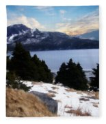 Land With A View Painterly Fleece Blanket