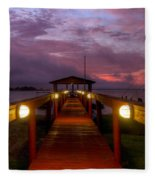 Landing Lights Fleece Blanket