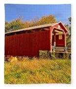 Landis Mill Covered Bridge Fleece Blanket