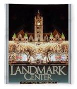 Landmark Center Winter Fleece Blanket
