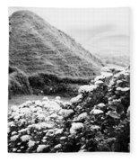 Landscape With Hydrangeas Fleece Blanket