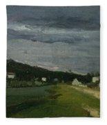Landscape With Stormy Sky Fleece Blanket