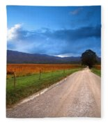 Lane Across Valley Fleece Blanket
