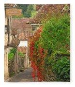 Lane And Ivy In St Cirq Lapopie France Fleece Blanket