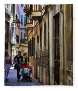 Lane In Palma De Majorca Spain Fleece Blanket
