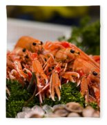 Langoustines At The Market Fleece Blanket