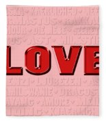 Language Of Love 4 Fleece Blanket