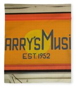 Larrys Music  Est 1952 Fleece Blanket