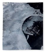 Larsen B Ice Shelf Breaking Away 2 Of 5 Fleece Blanket