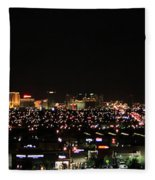 Las Vegas Nevada Nighttime Skyline Fleece Blanket