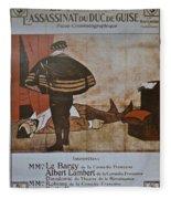 L'assassinat Du Duc De Guise Fleece Blanket