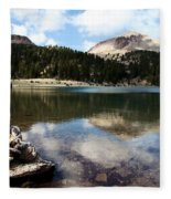 Lassen Mountain Lakes Fleece Blanket