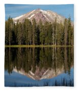Lassen Peak Reflections Fleece Blanket