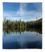 Lassen Summit Lake Reflections Fleece Blanket