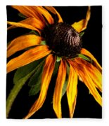 Last Day Of A Black-eyed Susan Fleece Blanket