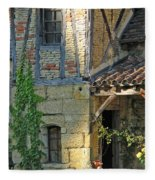 Last Light In Sarlat Fleece Blanket