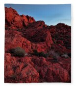 Last Light In Valley Of Fire Fleece Blanket