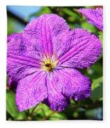Last Summer Bloom Fleece Blanket