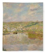 Late Afternoon - Vetheuil Fleece Blanket