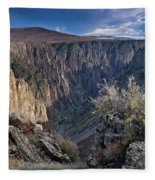 Late Afternoon At Black Canyon Of The Gunnison Fleece Blanket