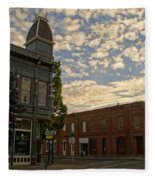 Late Afternoon At The Corner Of 5th And G Fleece Blanket