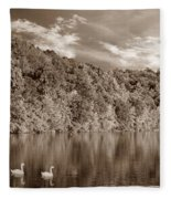 Late Afternoon At The Lake - S Fleece Blanket
