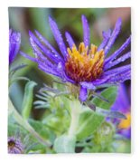 late Summer Fleabane Fleece Blanket