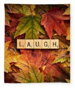 Laugh-autumn Fleece Blanket