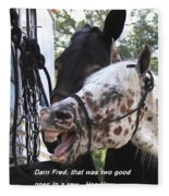 Laughing Horse Fleece Blanket
