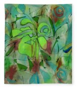 Laughing Lotus Fleece Blanket