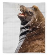 Laughing Sea Lion Fleece Blanket