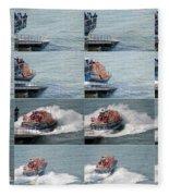 Launching The Lifeboat Fleece Blanket