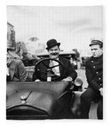 Laurel And Hardy, 1928 Fleece Blanket