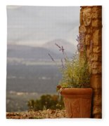 Lavender And Rock Fleece Blanket