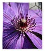 Lavender Clematis Fleece Blanket