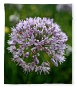 Lavender Globe Lily Fleece Blanket