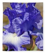 lavender Iris Fleece Blanket