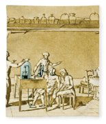 Lavoisier Experimenting Fleece Blanket