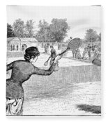 Lawn Tennis, 1883 Fleece Blanket