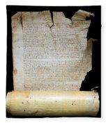 Lawsuit Of The Cathedral Chapter Of Calahorra. Pleito Del Cabildo Catedralicio De Calahorra Fleece Blanket