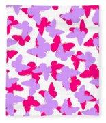 Layered Butterflies  Fleece Blanket