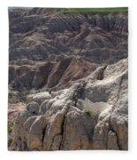 Layers Of Rock In The Badlands Fleece Blanket