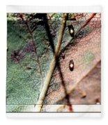 Leaf After Rain Fleece Blanket
