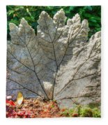 Leaf Art Fleece Blanket