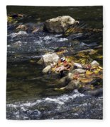 Leaf Collection Fleece Blanket