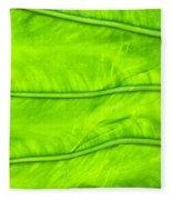 Leaf Detail Fleece Blanket